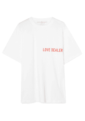 Golden Goose Deluxe Brand - Cindy Oversized Printed Cotton-jersey T-shirt - White