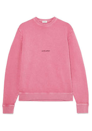 Saint Laurent - Printed Cotton-terry Sweater - Pink