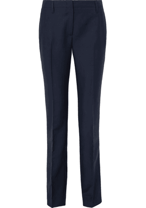 Prada - Mohair And Wool-blend Straight-leg Pants - Navy