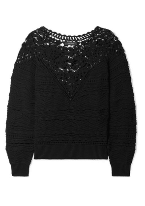 Isabel Marant - Camden Crocheted Cotton Sweater - Black