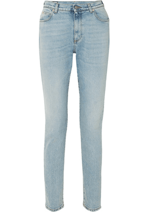 Gucci - Embroidered High-rise Skinny Jeans - Blue