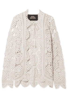 Marc Jacobs - Crocheted Cotton Cardigan - Off-white