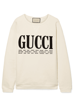 Gucci - Oversized Printed Cotton-terry Sweatshirt - Off-white