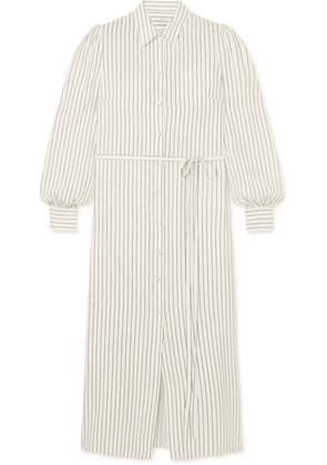 Co - Striped Silk Shirt Dress - Ivory