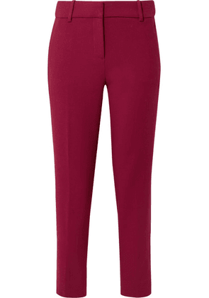 J.Crew - Cameron Cropped Cady Tapered Pants - Burgundy