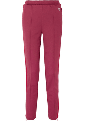 Moncler - Striped Stretch-jersey Track Pants - Red