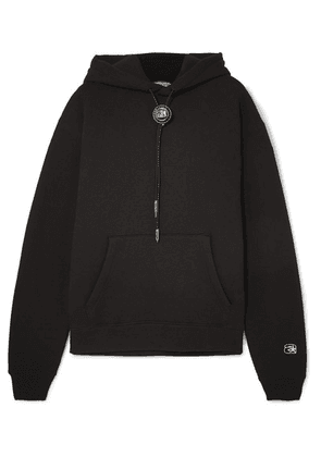 Alexander Wang - Embellished Cotton-blend Jersey Hoodie - Black