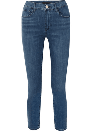 3x1 - Luna Mini Split High-rise Slim-leg Jeans - Mid denim