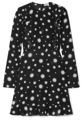 REDValentino - Realization Printed Silk-crepe Mini Dress - Black