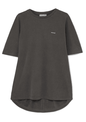 Balenciaga - Cocoon Oversized Printed Cotton-jersey T-shirt - Dark gray