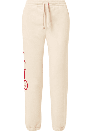 Gucci - Printed Cotton-terry Track Pants - Ivory