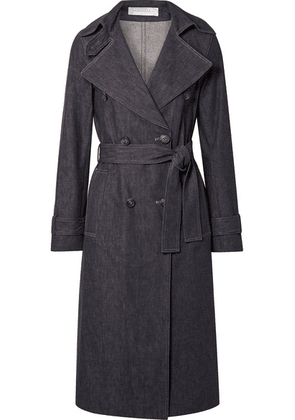 Victoria Beckham - Belted Denim Trench Coat - Dark denim