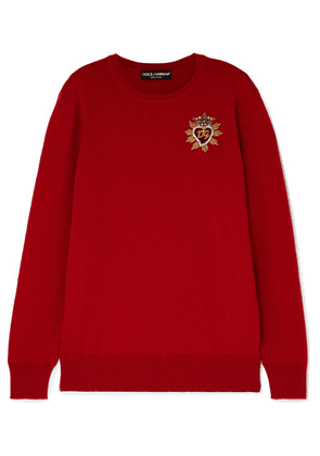 Dolce & Gabbana - Embellished Cashmere Sweater - Red