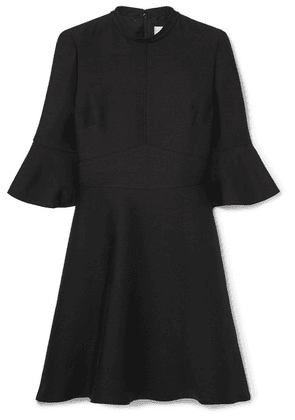 Valentino - Wool And Silk-blend Crepe Mini Dress - Black