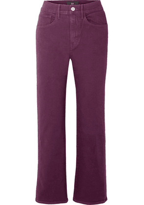 3x1 - W4 Shelter Cropped High-rise Flared Jeans - Burgundy
