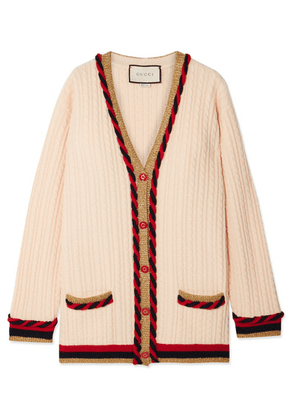 Gucci - Oversized Wool And Cashmere-blend Cardigan - Ivory