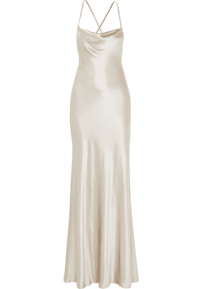 Galvan - Whiteley Silk-satin Gown - FR36