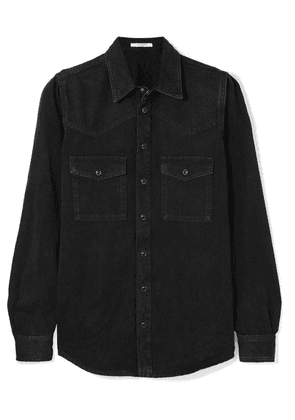 Givenchy - Embroidered Denim Shirt - Black