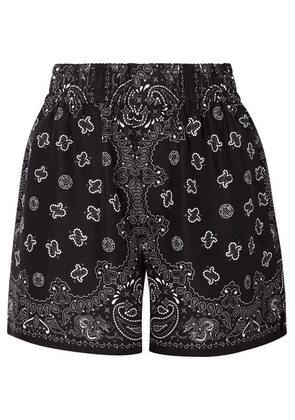 Alexander Wang - Printed Silk-satin Shorts - Black