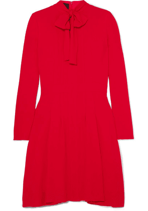 Giambattista Valli - Pussy-bow Pleated Crepe Dress - Red