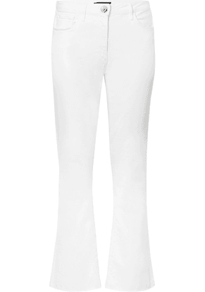 3x1 - W25 Crop Mid-rise Flared Jeans - White