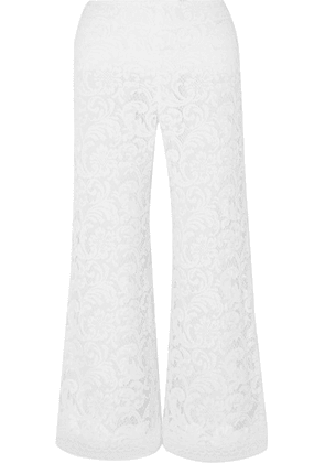Adam Lippes - Cropped Corded Lace Wide-leg Pants - White