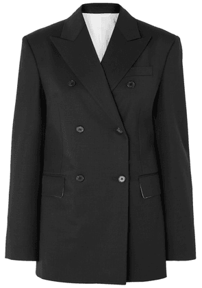 CALVIN KLEIN 205W39NYC - Double-breasted Wool-blend Blazer - Black