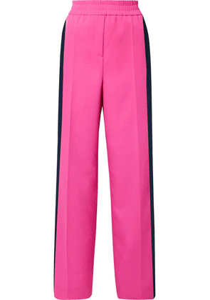 CALVIN KLEIN 205W39NYC - Striped Wool-gabardine Track Pants - Bright pink