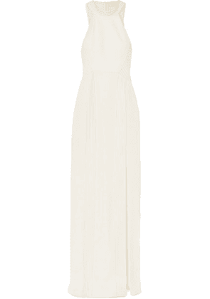 Galvan - Palm Beach Ribbed Jersey Gown - White
