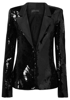 Brandon Maxwell - Sequined Faille Blazer - Black