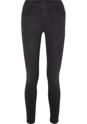 3x1 - W3 Channel High-rise Skinny Jeans - Gray