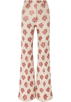 Golden Goose Deluxe Brand - Carrie Floral-jacquard Wide-leg Pants - White