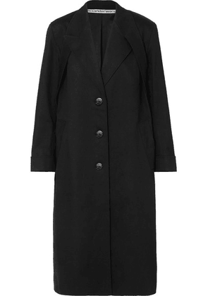 Alexander Wang - Studded Cotton-blend Twill Coat - Black