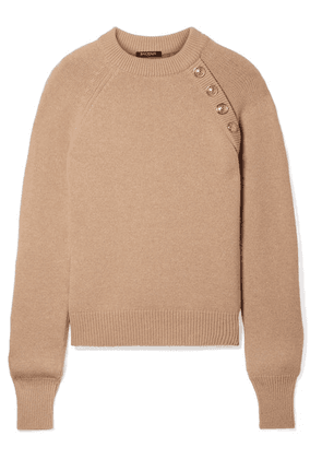 Balmain - Button-embellished Wool And Cashmere-blend Sweater - Beige
