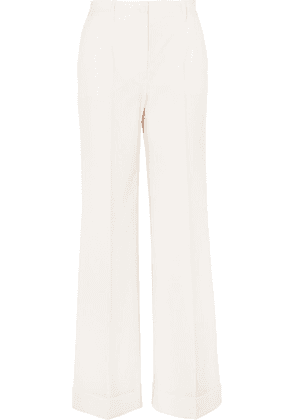 Dolce & Gabbana - Wool-blend Crepe Wide-leg Pants - White