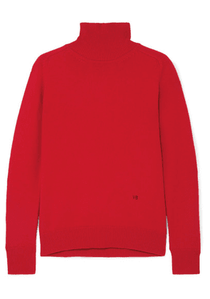 Victoria Beckham - Embroidered Cashmere-blend Turtleneck Sweater - 3