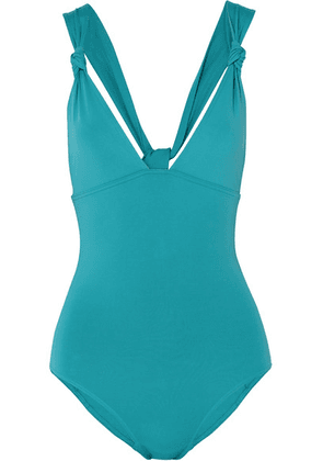 Eres - Poker Prime Knotted Swimsuit - Turquoise
