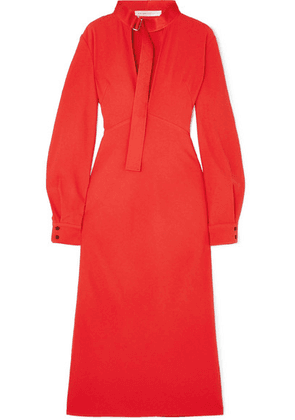 Victoria Beckham - Cutout Cady Midi Dress - Red