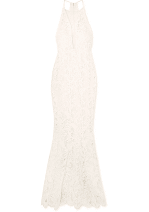 Galvan - Positano Tulle-paneled Lace Gown - Ivory