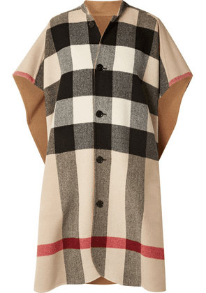 Burberry - Reversible Checked Wool-blend Cape - Camel