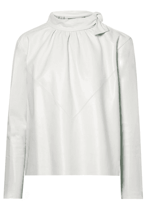 Isabel Marant - Chay Gathered Leather Blouse - Off-white