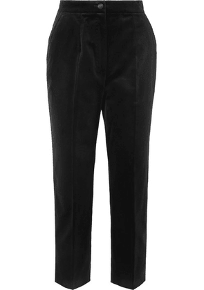 Dolce & Gabbana - Cotton-velvet Straight-leg Pants - Black