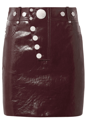 Alexander Wang - Patent-leather Mini Skirt - Burgundy