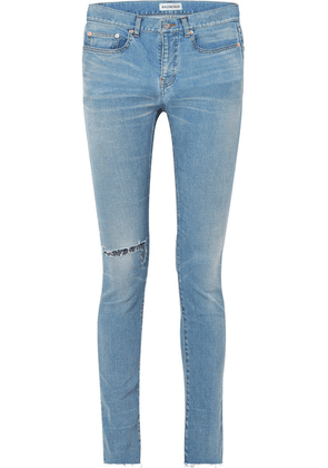 Balenciaga - Distressed High-rise Skinny Jeans - Blue