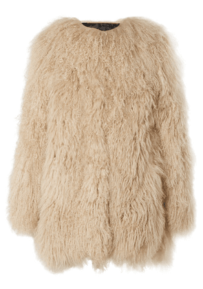 Saint Laurent - Shearling Coat - Beige