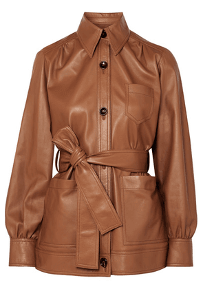 Joseph - Saul Belted Leather Jacket - Brown