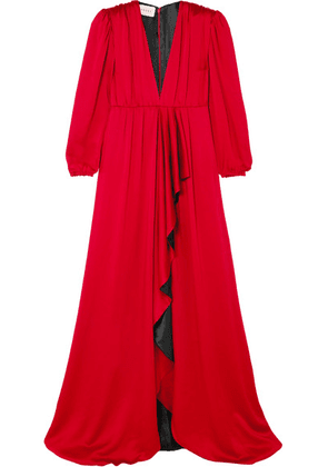Gucci - Ruffled Hammered-satin Gown - IT42