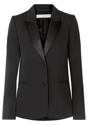 Victoria Beckham - Satin-trimmed Wool And Mohair-blend Blazer - Black