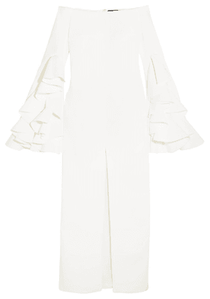 Ellery - Ruffled Crepe Gown - White