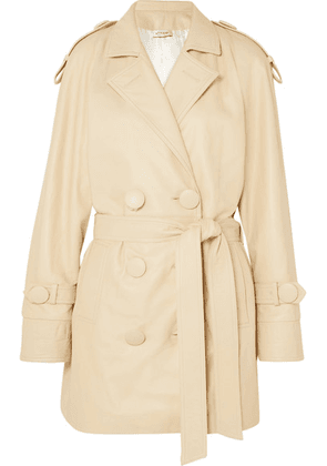 Attico - Leather Trench Coat - Beige